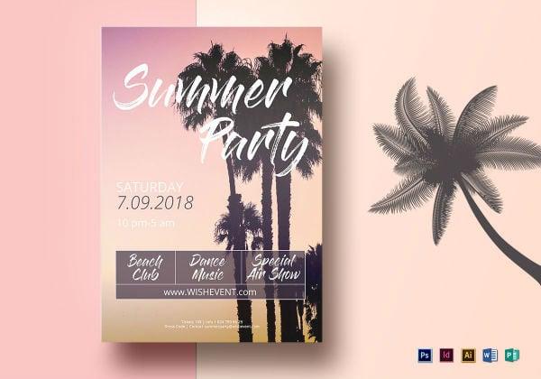 16 summer beach party flyer