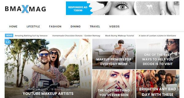 Bmaxmag – Custom Background WordPress Theme