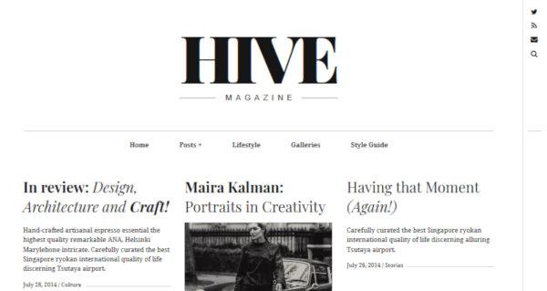 Hive – Typography WordPress Theme
