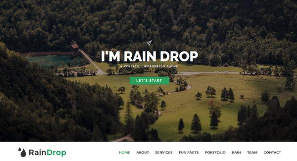 Raindrop – Isotope Filter WordPress Theme