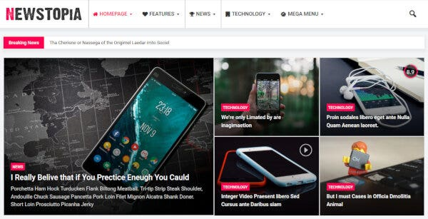 Newstopia – Menu Icons WordPress Theme