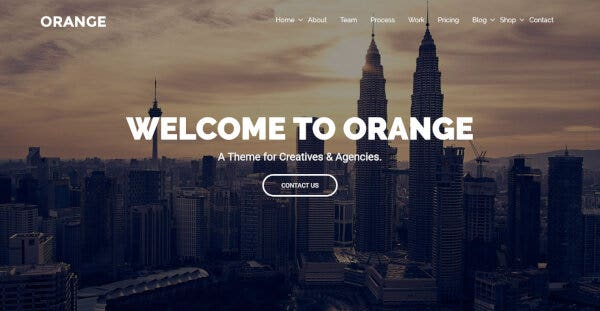 Orange – King Composer WordPress Theme