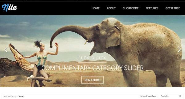 Nile – Category Slider WordPress Theme