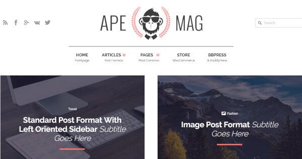 Apemag – Forum WordPress Theme