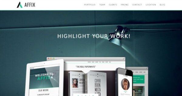 Affix – Options Panel WordPress Theme