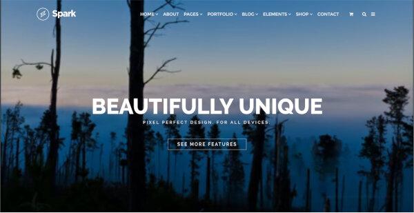 3 spark wordpress theme drag drop site builder by visualmodo