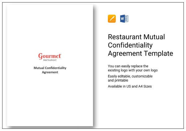 37 ed completed restaurant mutual confidentiality agreement 1