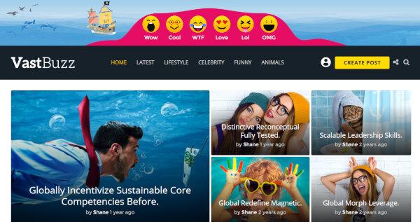 Vast Buzz – Front End Uploader WordPress Theme