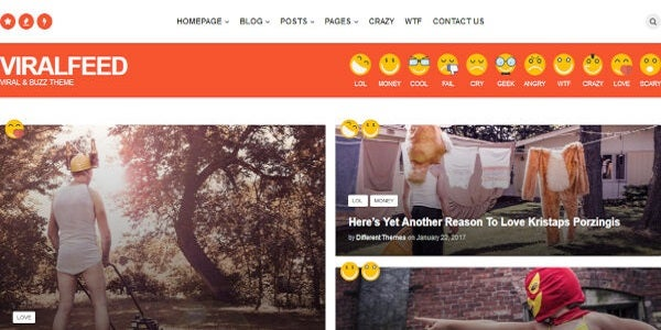 ViralFeed – Parallax Effect WordPress Theme