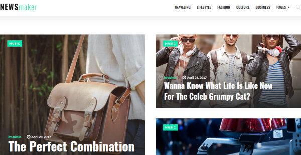 NewsMaker – Social Options WordPress Theme
