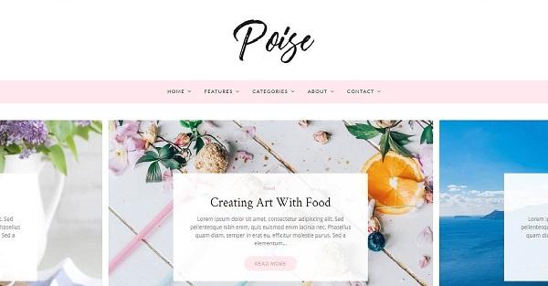 Poise – Multiple Page Layouts WordPress Theme