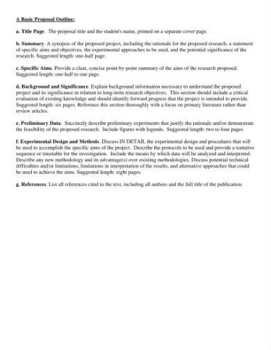 a basic research proposal outline 1