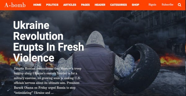 A-Bomb - SEO Optimized WordPress Theme