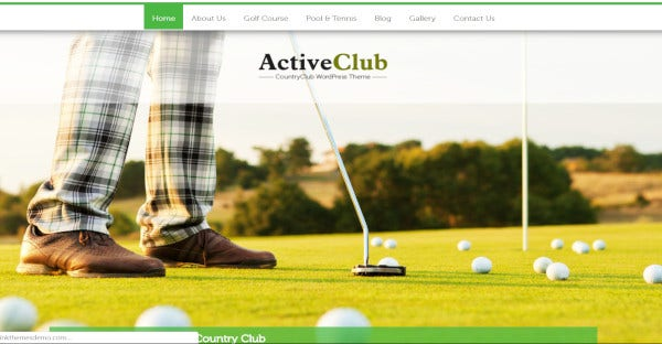 activeclub – cross browser compatible wordpress theme