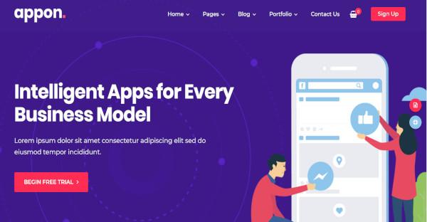 APPON - customizable WordPress Theme