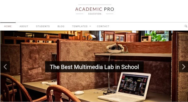 academic xml sample data wordpress theme