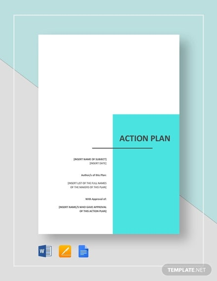 90 Action Plan Templates Word Excel Pdf Apple Pages