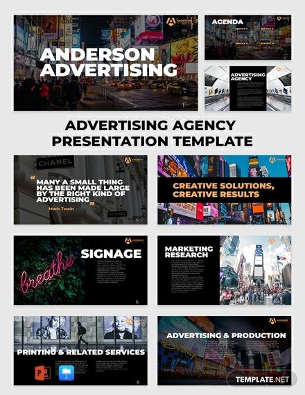 advertising marketing agency presentation layout