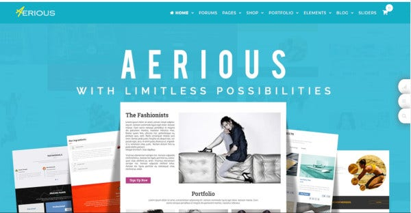 aerious multipurpose wordpress theme