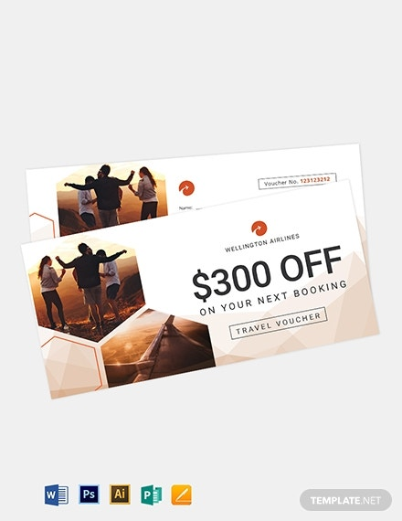 airline travel voucher template