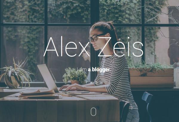 alex zeis html5 wordpress theme