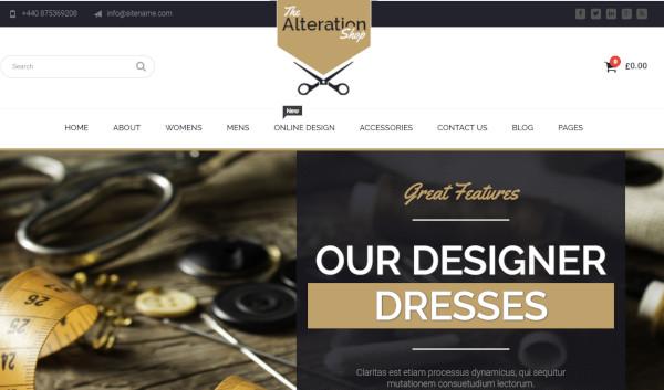 alteration shop woo commerce integration wordpress theme