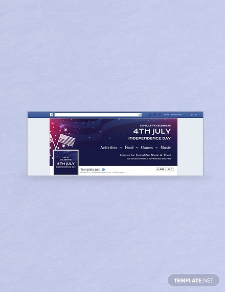 american independence facebook cover format
