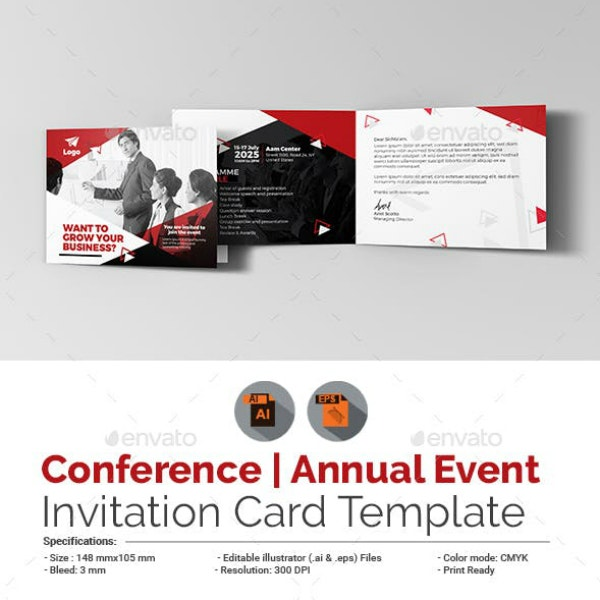 annual conference event invitation layout