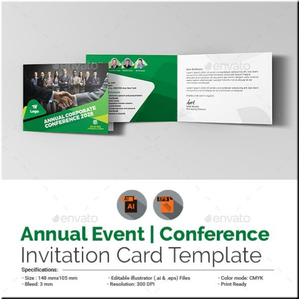 annual conference event invitation sample