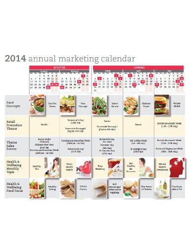 annual marketing calendar