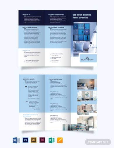 apartment agent agency tri fold brochure