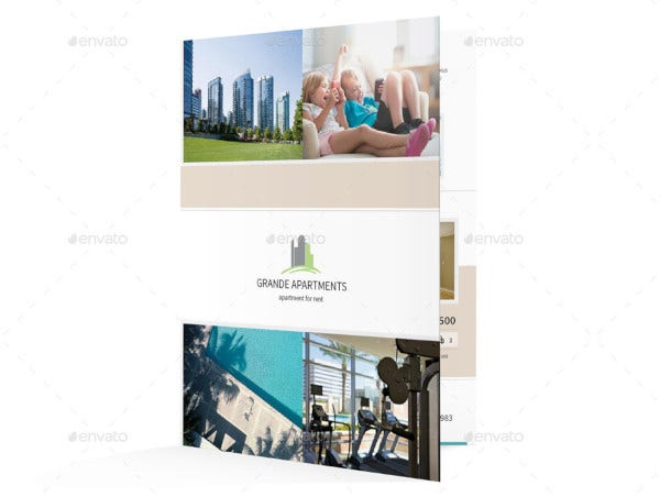 apartment brochure template editable