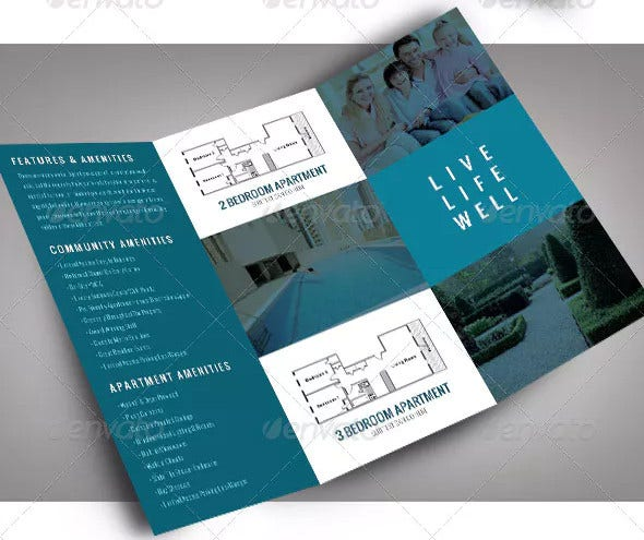 apartment brochure template in psd