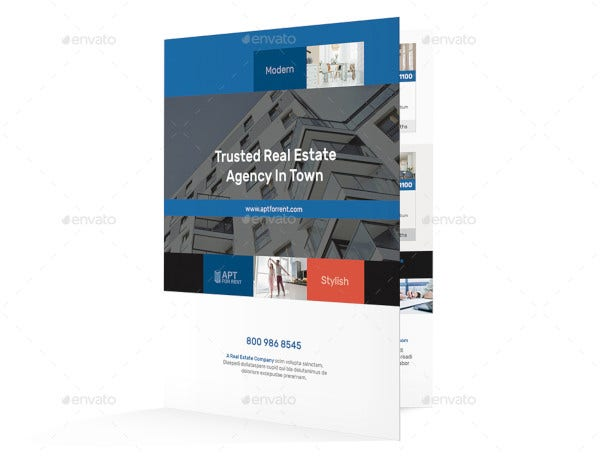 apartment brochure template in vector
