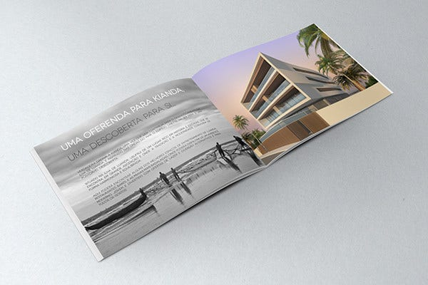 apartment building brochure template