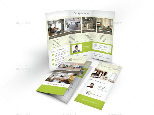 apartment for rent tri fold brochure