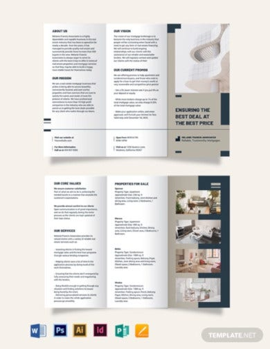 apartment mortage broker brochure template