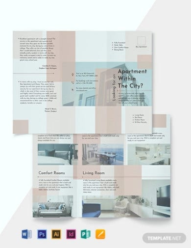 apartment tri fold brochure template