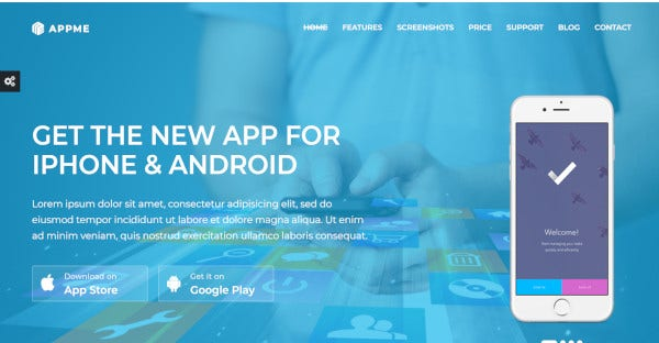 AppMe - Bootstrap WordPress Theme
