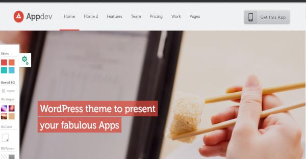 Appdev - modular framework WordPress Theme