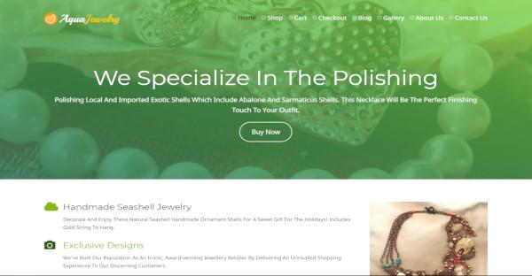 Aqua Jewelry – Mobile Friendly WordPress Theme