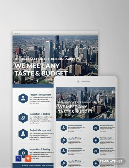 architecture business email newsletter template