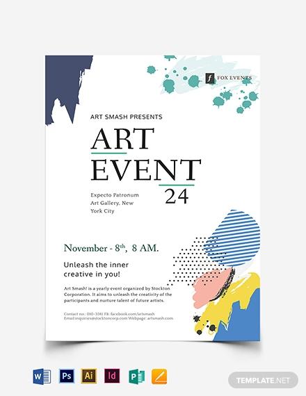 art event flyer template 1