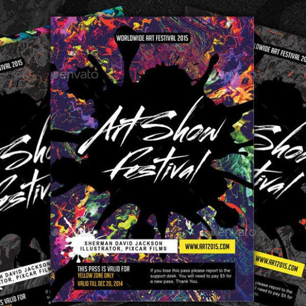 art show festival id cards