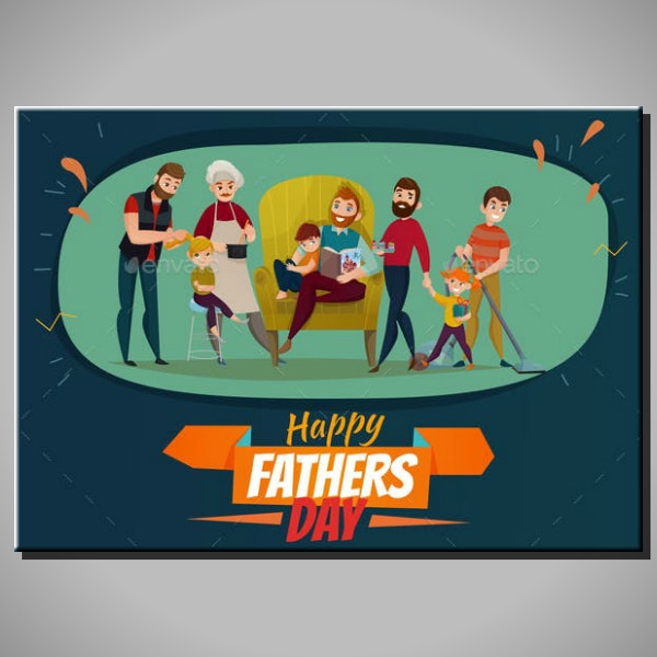 Artistic Father's Day Poster Format