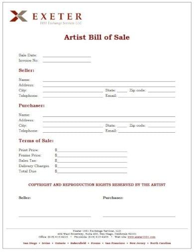 artwork invoice professional sample