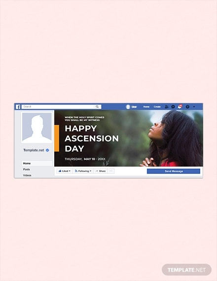 ascension day facebook cover layout