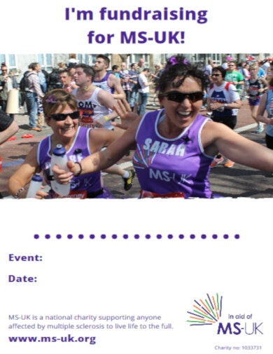 athletics fundraising poster template