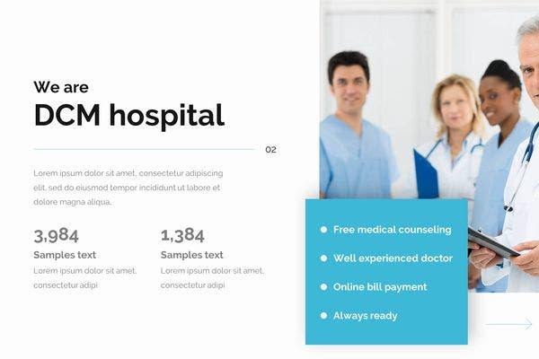 attractive medical marketing powerpoint template