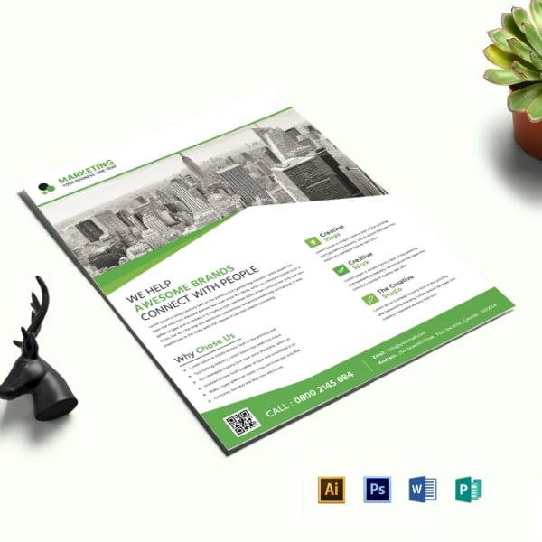 awesome marketing flyer leaflet layout